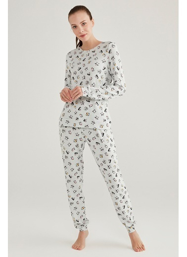 Penti Cute Penguin Pijama Takımı Renkli
